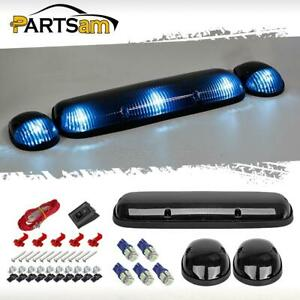 3xsmoke Cab Roof Top Clearance Lights 161 5050 Ice Blue Leds For Chevy Gmc 02 07