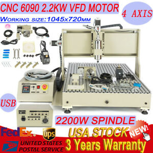 Usb 3 4 Axis 2200w 1500w Cnc Engraver Router Milling Drilling 6040 6090 Mach3