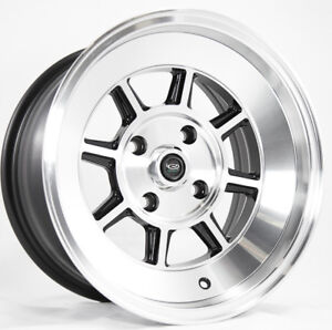 One 15x9 Rota Shakotan 4x114 3 0 Full Royal Black Wheel