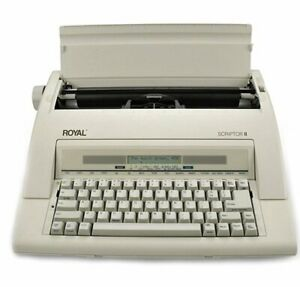 Royal Scriptor Ii Electronic Portable Typewriter Taupe Certified Refurbished