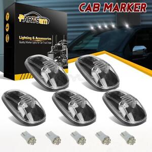 For 99 00 01 02 Dodge Ram 264145cl Clear Roof Cab Marker Light t10 White Led 5pc