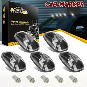 For Dodge Ram 99 00 01 02 264145cl Clear Roof Cab Marker Light T10 White Led 5pc