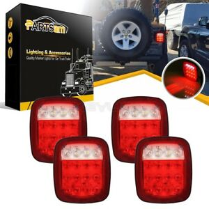 4xuniversal 16 Led Stop Tail Turn Backup Brake Marker Light Red white Waterproof