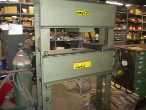 Simplex H Frame 100 Ton Press With Pump And Ram Ies10010