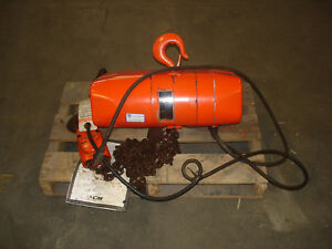 used Cm Valustar Wr 2 Ton 1hp 13 4a 2000kg Electric Chain Hoist a used