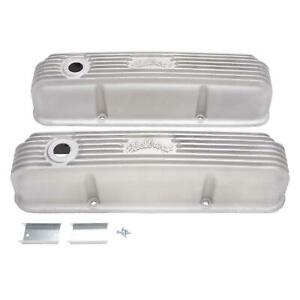 Edelbrock 41629 Classic Ford 360 390 428 Fe Satin Finish Valve Covers 5 High