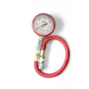 Afco 85330r 0 30 Psi Tire Air Pressure Gauge Red