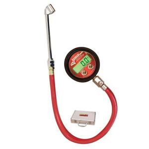 Longacre 53026 Pro Digital Tire Pressure Gauge 0 125 Psi With Foot Valve
