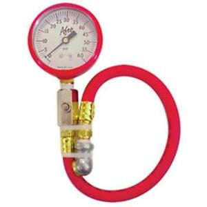 Afco 85360r 0 60 Psi Tire Air Pressure Gauge Red