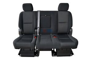 2010 2011 2012 2013 2014 Tahoe Yukon Suburban 2nd Row Bench Seat Black Cloth