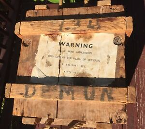 Vintage Large Military Wooden Ammo Crate