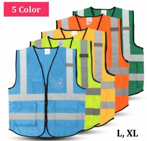 High Quality Safety Vest Visibility Reflective Construction Traffic Warehouse