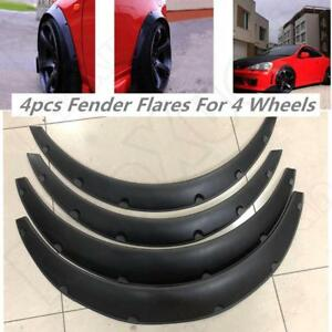 3 5 90mm 4x Universal Flexible Car Fender Flares Extra Wide Body Wheel Arches