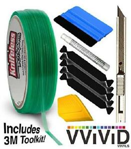 Knifeless Vinyl Wrap Cutting Tape Finishing Line 50m Plus 3m Toolkit 3m Squeegee