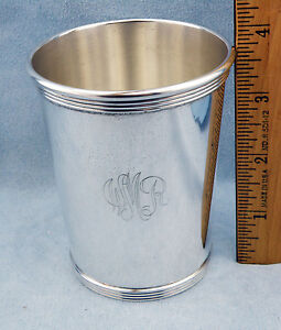 Vintage Sterling Silver Mint Julep Cups By Harry Mccord Kentucky W Mono