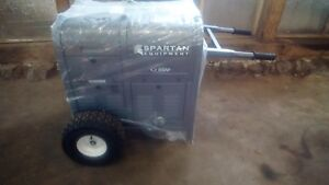 Spartan 9500m Gas Powered Generator Lockable Tool Box Compartments