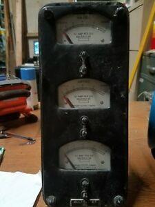 Sangamo 0 6 Amp Lincoln Demand Meter V 2 Antique Triple Meter Works Perfect