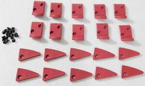 20pk Plastic Leverless Inserts With Screws For Corghi Tire Changers And Others