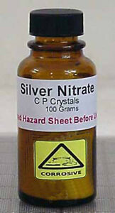 Silver Nitrate 100 Grams Chemically Pure Crystals