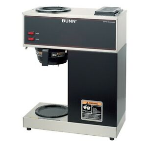 Bunn 33200 0000 Vpr 12 cup Commercial Coffee Brewer Upper And Lower Warmers