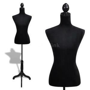 Ladies Bust Display Black Female Mannequin Female Dress Form H9g6