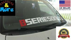 Compare To Bseries Windshield Car Sticker Banner Decal Honda Civic Jdm Integra