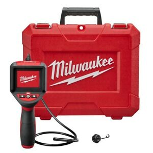 Milwaukee Wall Vent Pipe Plumbing Electric Inspection Scope Lcd Screen Camera