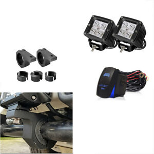 For Hummer H1 H2 H3 Suv Truck Tow Hitch Bracket Backup Reverse Dual Led Light