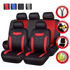 Universal Car Seat Covers Red Black For Women Girl Fit 50 50 40 60 60 40 For Vw