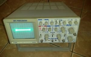 Bk Precision 60mhz Oscilloscope Model 2160a Power On Test As Is