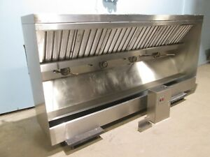 Heavy Duty Commercial 108 w Ss Restaurant Kitchen Exhaust Hood W return Air Vent