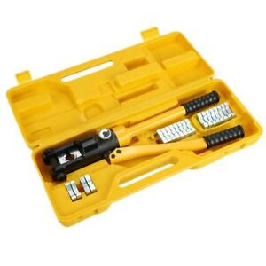 12 Ton Hydraulic Wire Terminal Crimper Battery Cable Lug Crimping 11 Dies