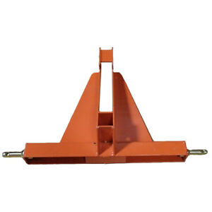Orange Heavy Duty 3 Point 2 Receiver Hitch Drawbar Category 1 Cargo Haulers