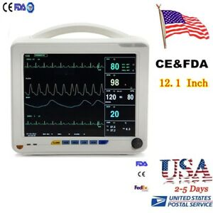 Fda Medical Home Health 12 1 Inch Vital Sign Patient Monitor Nibp Spo2 Ecg Alarm