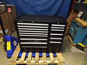 Kennedy 15 drawer Steel Roller Cabinet 39 3 8 X 18 X 39 Black 315xbk Repair
