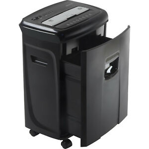 Cross Cut Paper Shredder 12 Sheet Credit Card Cutter Pull Out Basket Office New
