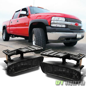 Smoked 99 02 Silverado 00 06 Suburban Tahoe Bumper Fog Lights Lamps Left Right