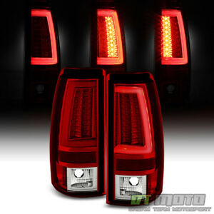 1999 2000 2001 2002 Chevy Silverado Gmc Sierra Led Tube Tail Lights Brake Lamps