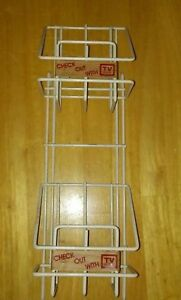 2 Tier Tv Guide Magazine Store Display Rack