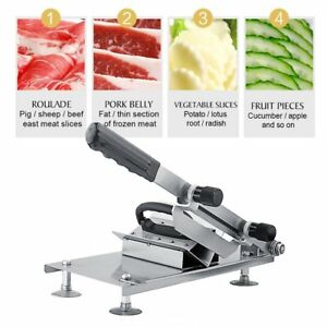 Commercial Manual Meat Slicer Cleavers Cutter Lamb Mutton Roll Slicing Machine