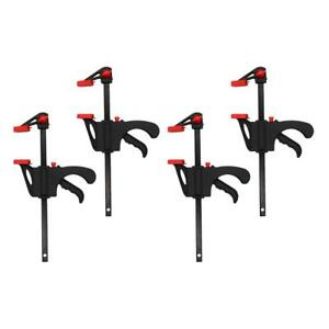 4pcs Heavy Duty F Clamp With Plastic Handle Woodworking Hand Tool Random