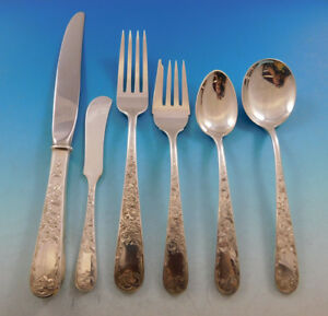 Old Maryland Engraved By Kirk Sterling Silver Flatware Set 8 Service 50 Pieces