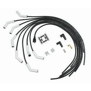 Accel Spark Plug Wires Pro Fit Ceramic Spiral Core 8mm Black 115 Degree Boots