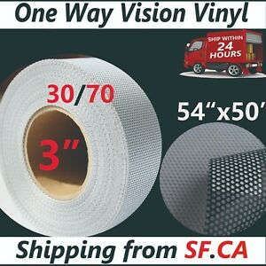 54 x50 One Way Vision Printing Vinyl Window Decal Cling Film For Latex Printer