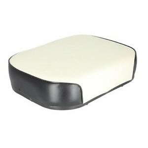 Seat Cushion Steel Core Vinyl With Black Trim Oliver 1655 1550 1850 1650 White