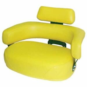 Seat Assembly 3 Piece Set With Hardware Vinyl Yellow John Deere 4020 7700 3020