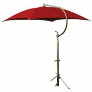Tractor Umbrella With Frame Mounting Bracket 54 10 Oz Duck Canvas Red