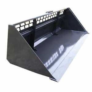 Stout Skid Steer Snow Bucket 96 Wide High Back With Mesh Single Cutting Edge