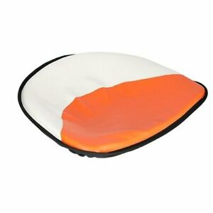 Pan Seat 21 Deluxe Cushion Vinyl White Orange Allis Chalmers D17 Wd45 D15