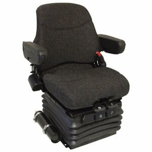 Seat Assembly Air Suspension Fabric Brown Case Ih New Holland John Deere 7700